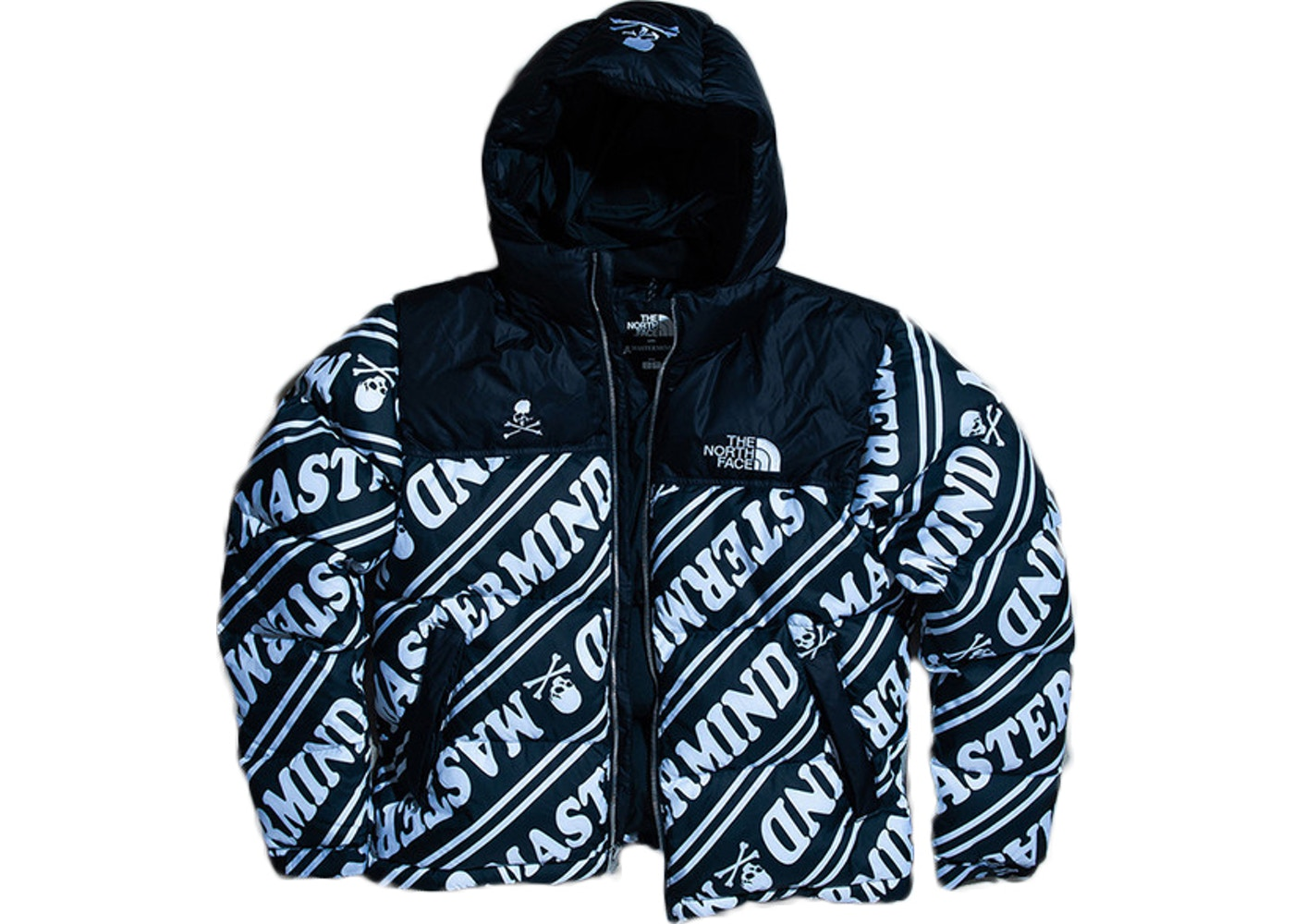 8064f6808 Mastermind The North Face Nuptse Jacket Black/White