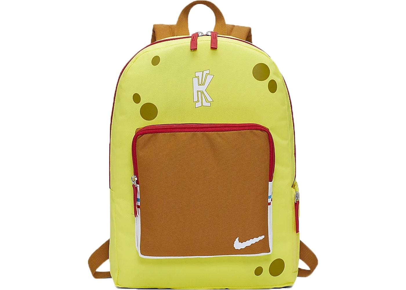 Por ahí equipo Obligatorio  Nike Kyrie x Spongebob Backpack Dynamic Yellow