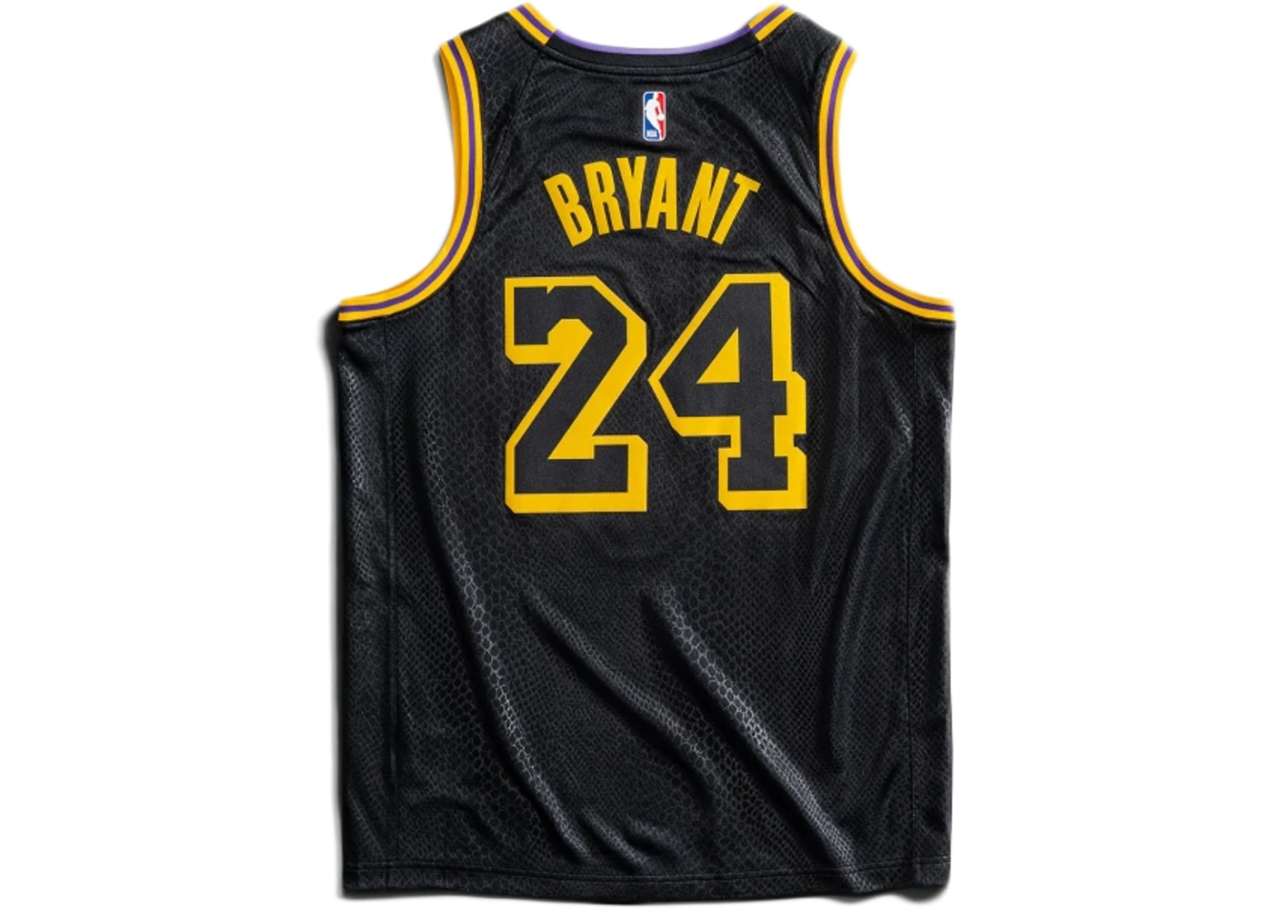 Nike Los Angeles Lakers Kobe Bryant Black Mamba City Edition Swingman Jersey Black Gold Ss20