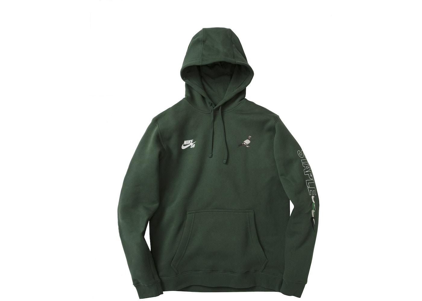 nike hoodie green