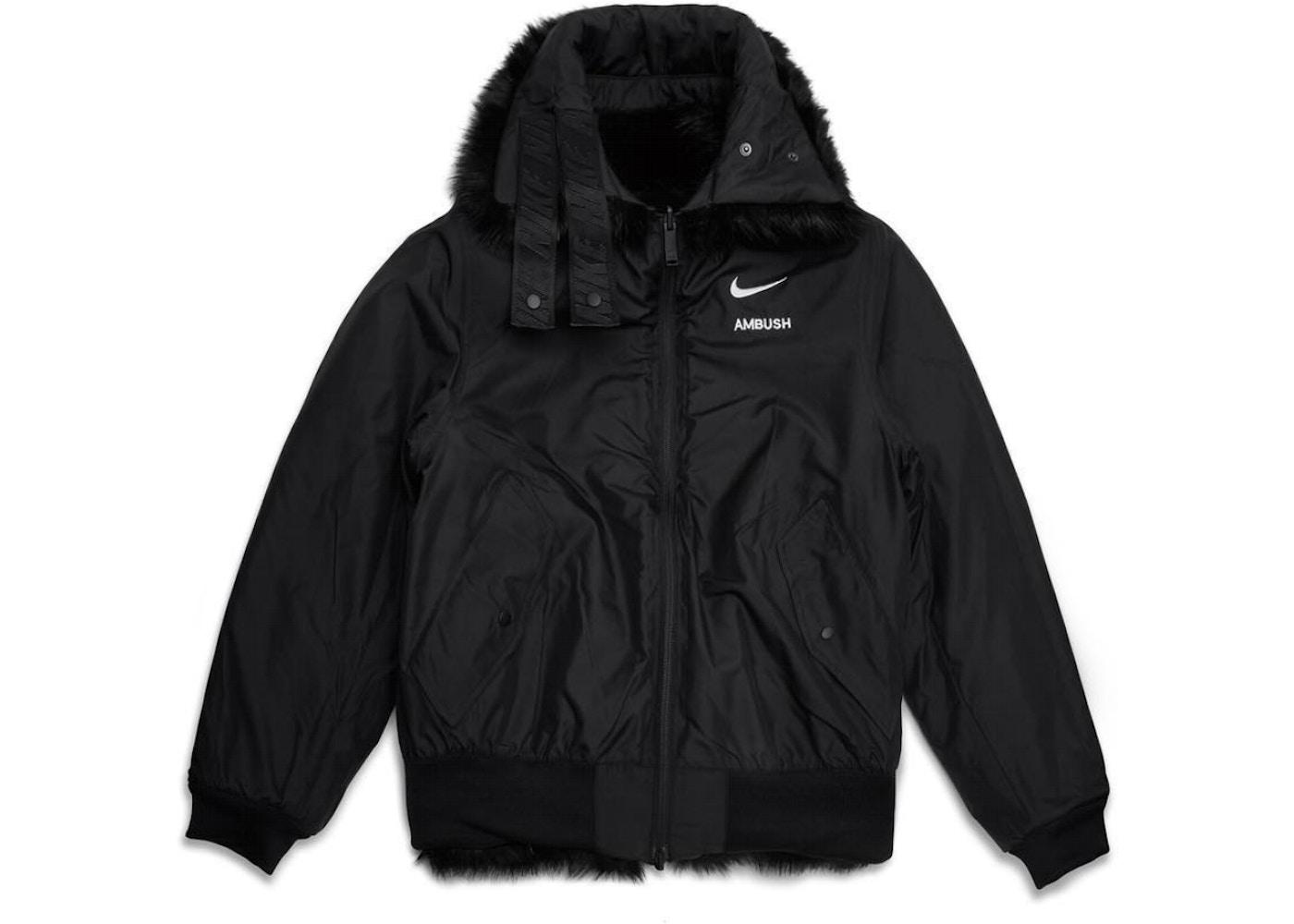 Nike x Ambush Women's Reversible Faux Fur Coat Black/Sail ...