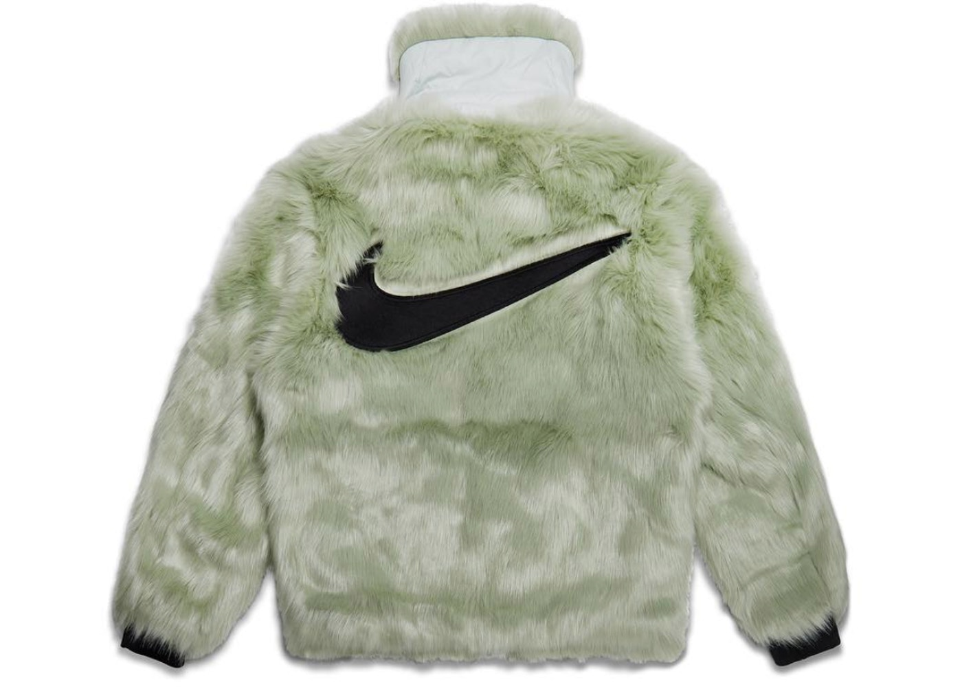 separation shoes 090ce 43beb Nike x Ambush Women s Reversible Faux Fur Coat Jade Horizon Black