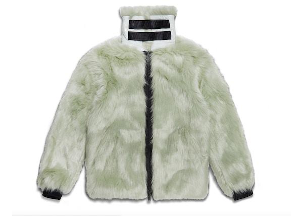 5ce2dc84ca6b Nike x Ambush Women s Reversible Faux Fur Coat Jade Horizon Black