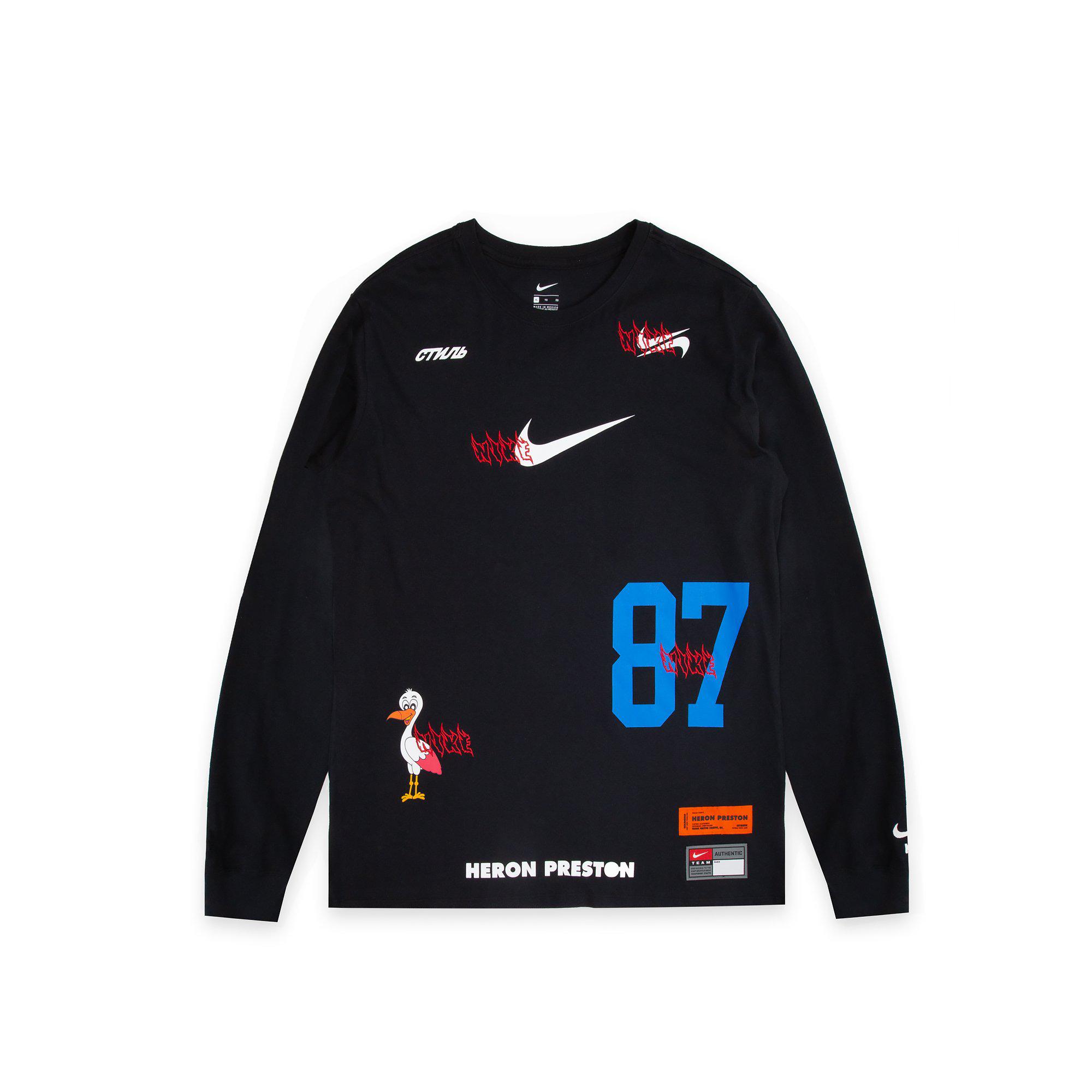 Nike x Heron Preston L/S Tee Black - SS19