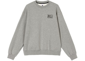 Nike x Stussy NRG BR Crew Fleece Gray