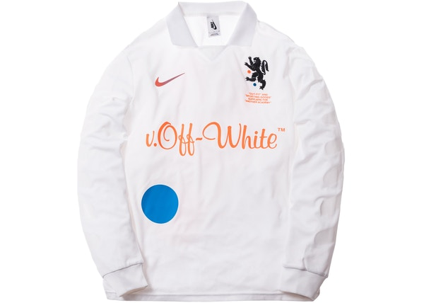 fe3b0bc49420 Nikelab x OFF-WHITE Mercurial NRG X FB Jersey White