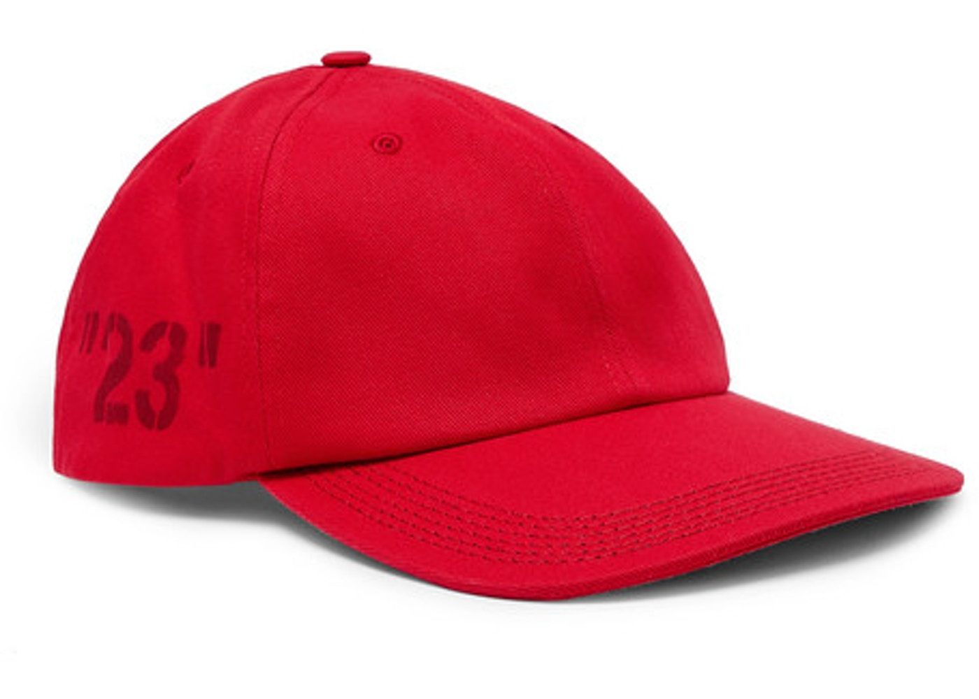 4301f835 OFF-WHITE 23' Printed Baseball Hat Tonal Red - SS19