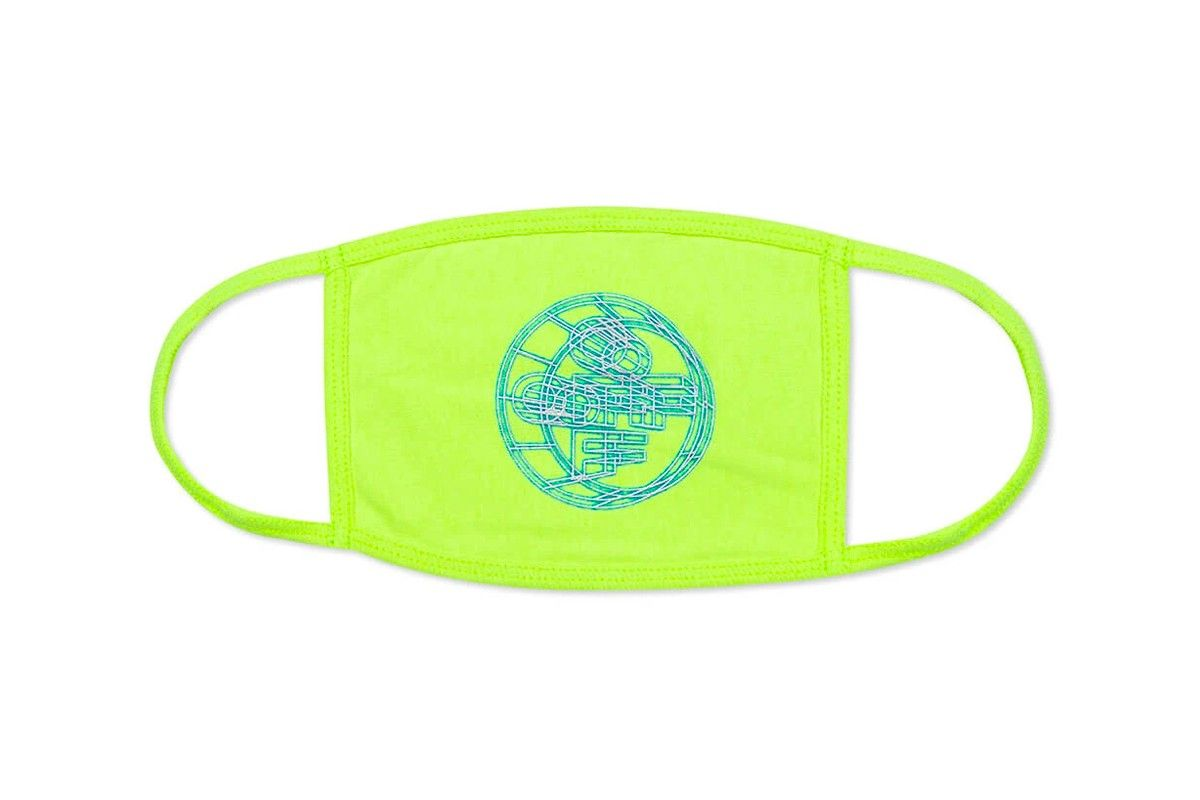OFF-WHITE 3D Crossed Off Face Mask Neon