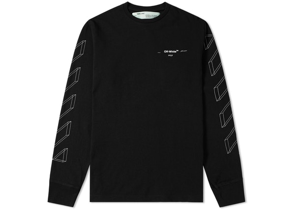 b2d8778bfbe2 OFF-WHITE 3D Marker Diag Sweatshirt Black/White