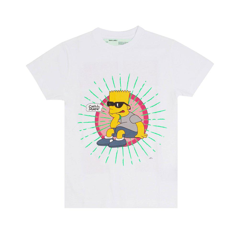 OFF-WHITE Bart Glasses T-Shirt White
