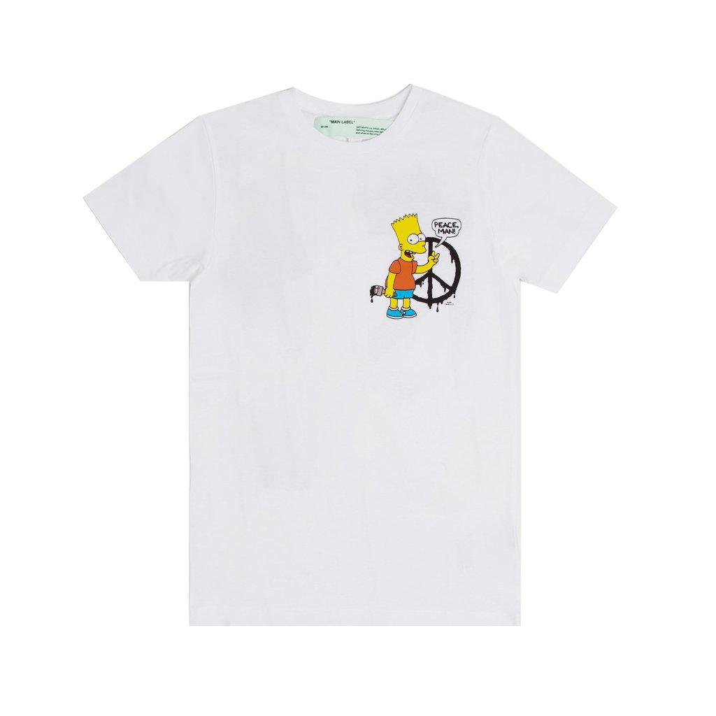 OFF-WHITE Bart Peace T-Shirt White