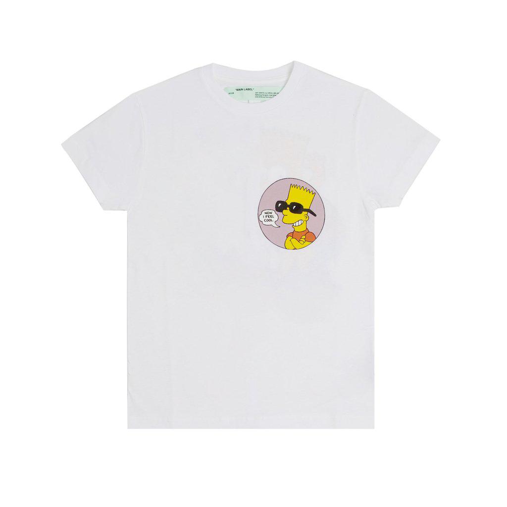 OFF-WHITE Bart Public Enemy T-Shirt White