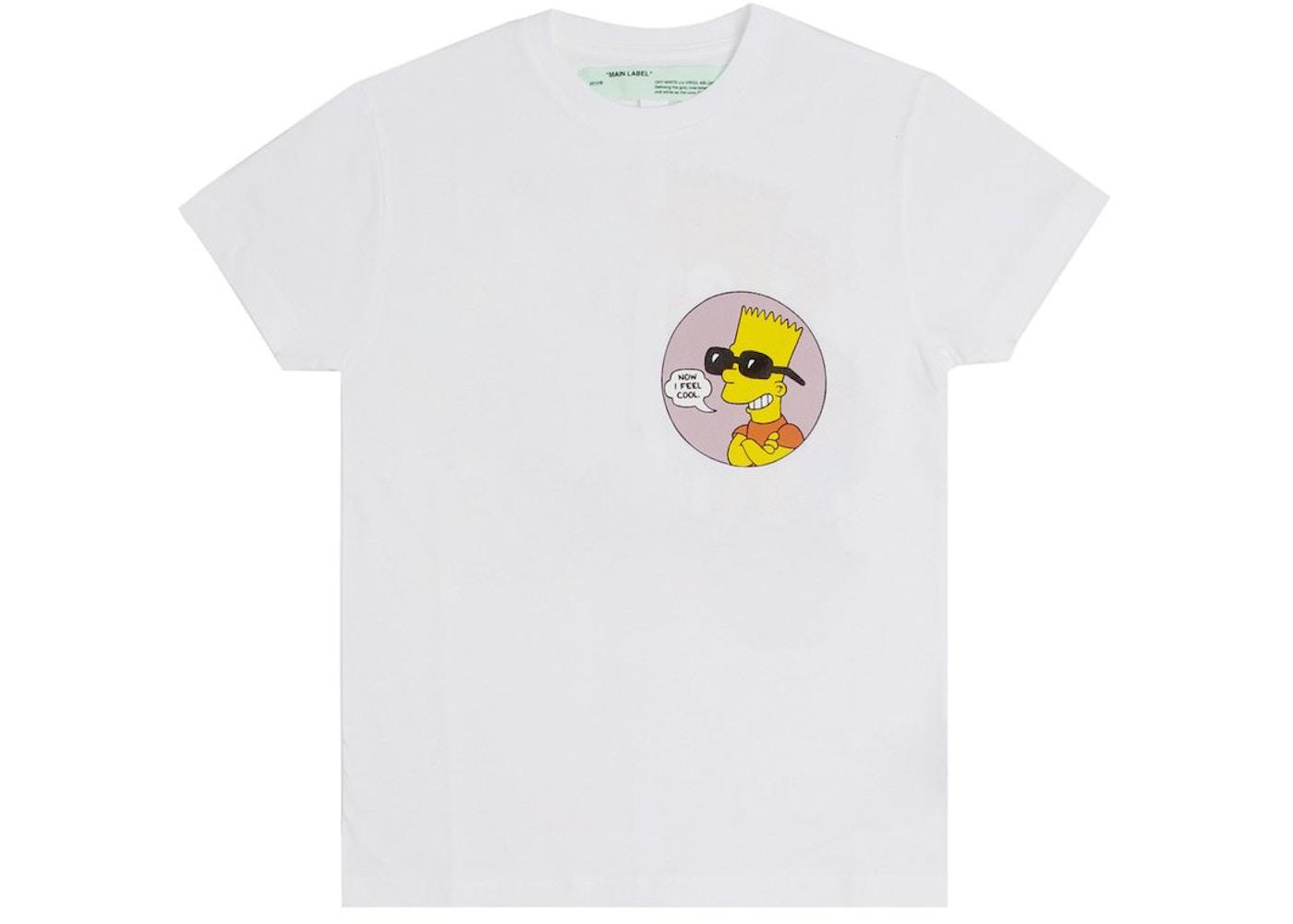 6920cd16c OFF-WHITE Bart Public Enemy T-Shirt White - SS19