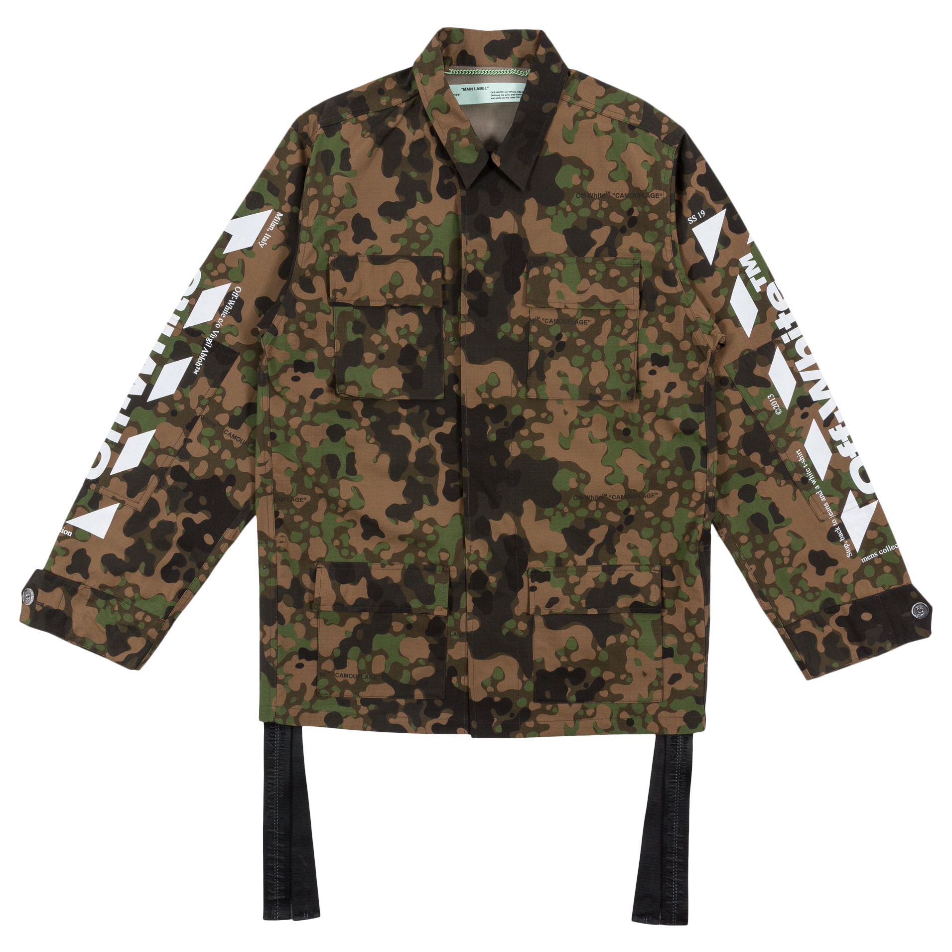 OFF WHITE Camoflauge Diag Field Jacket Military GreenBrown