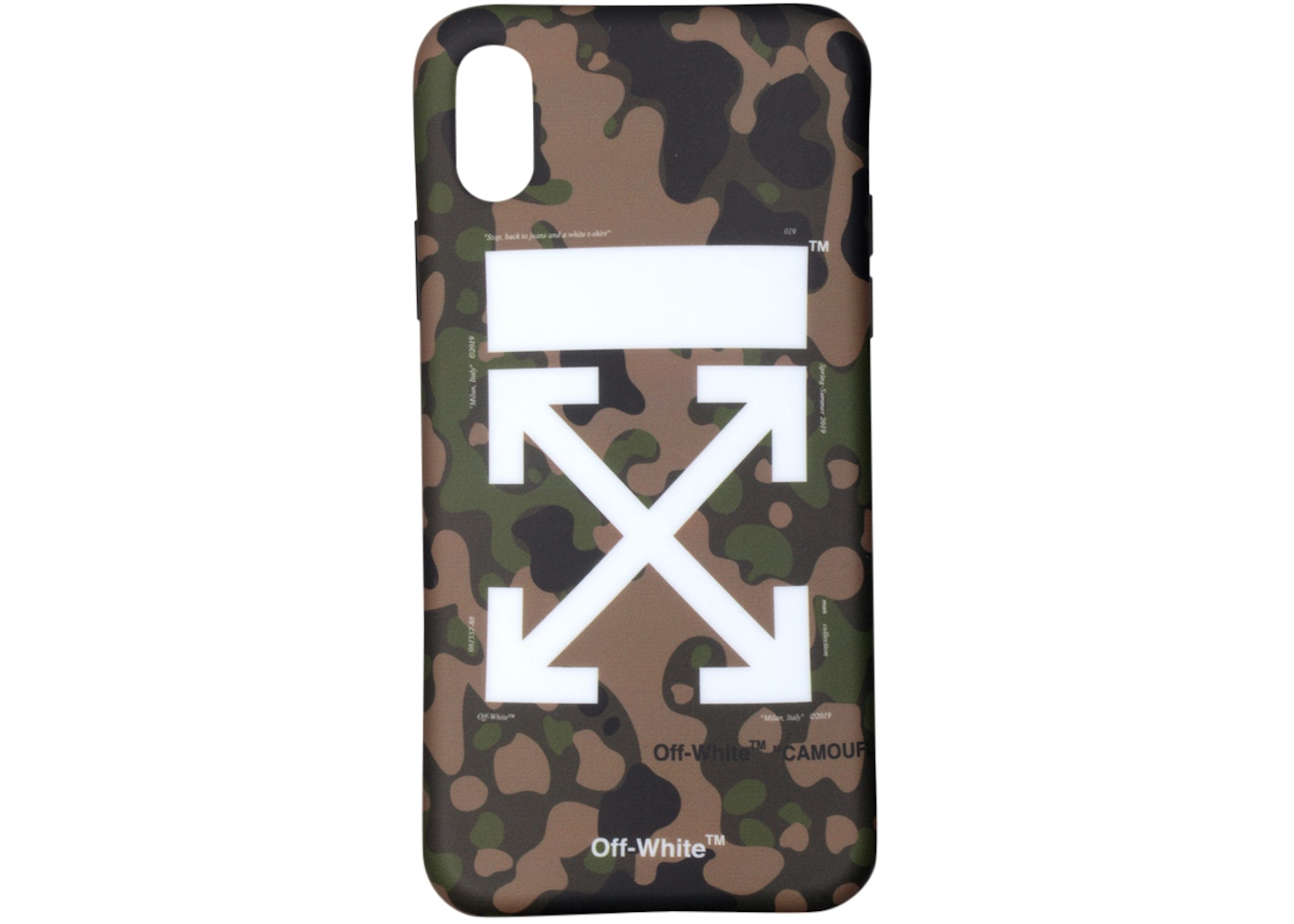 finest selection 349b2 06208 OFF-WHITE Camouflage iPhone X Case (SS19) Camo/White
