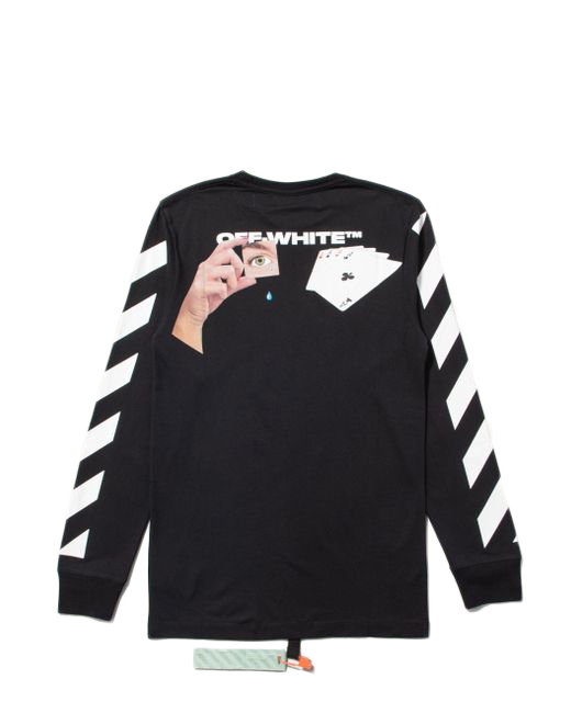 off white black long sleeve t shirt