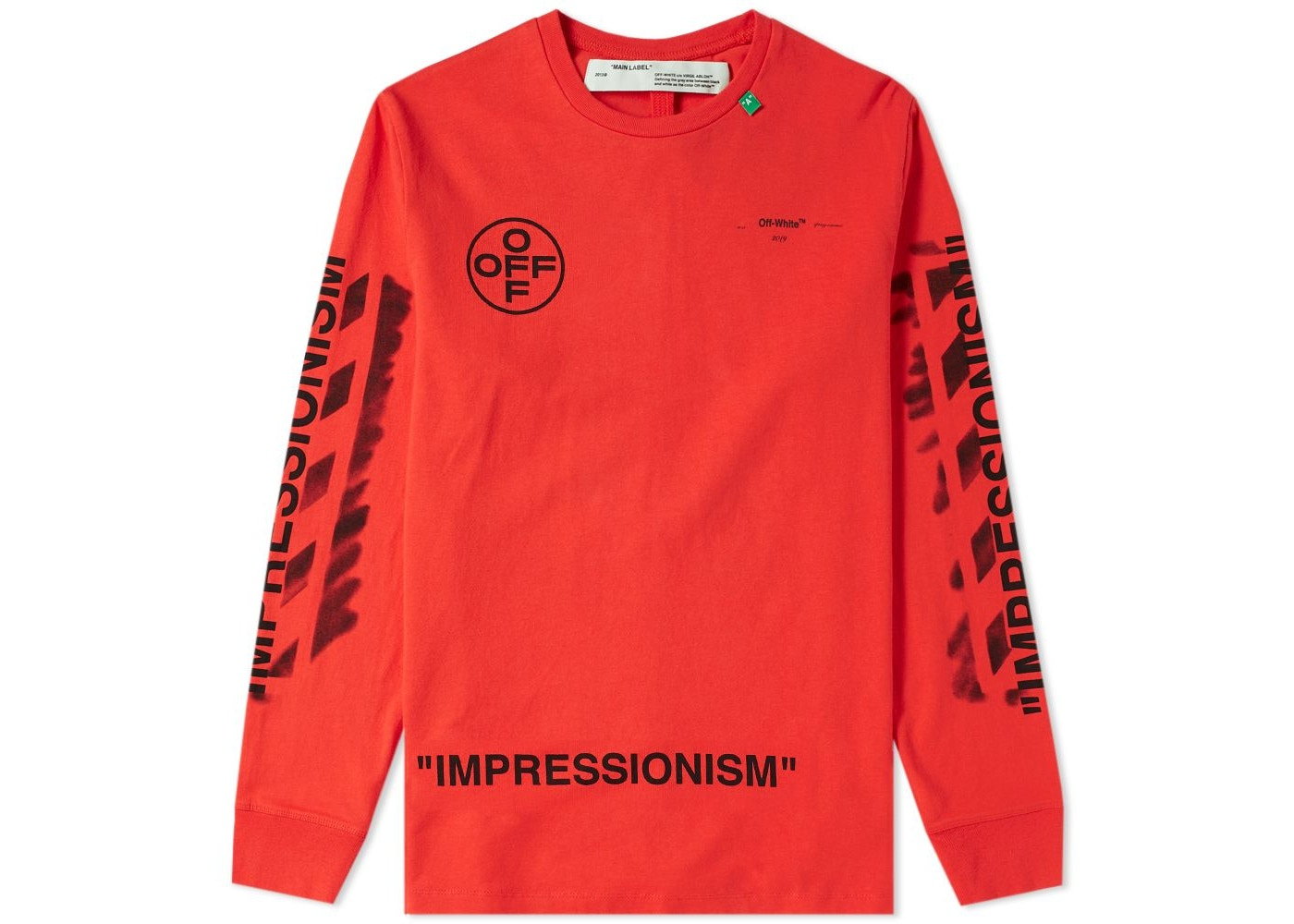qualità eccellente metà prezzo vendita economica OFF-WHITE Diag Stencil L/S T-Shirt Red/Black