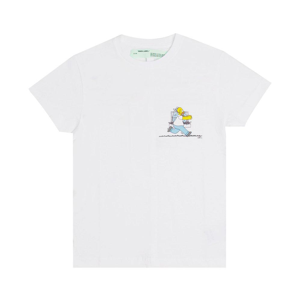OFF-WHITE Homer And Bart T-Shirt White