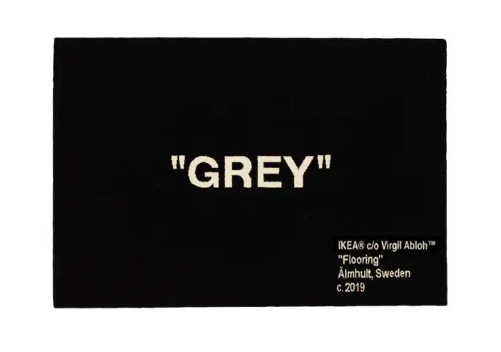 IKEA x Vigil Abloh Grey Rug 195x133 CM Black