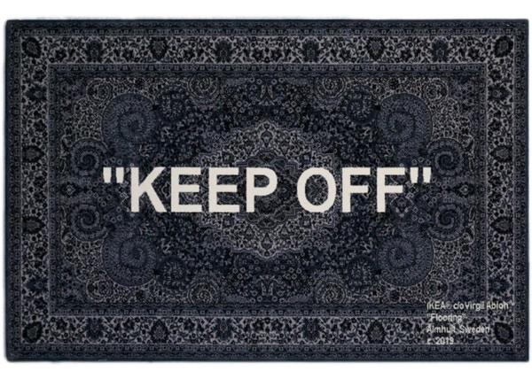 9f3ac911c72f17 IKEA x Virgil Abloh Keep Off Rug 200x300 CM Grey/White
