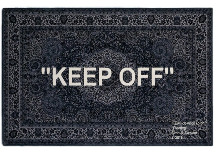Ikea/off white rug
