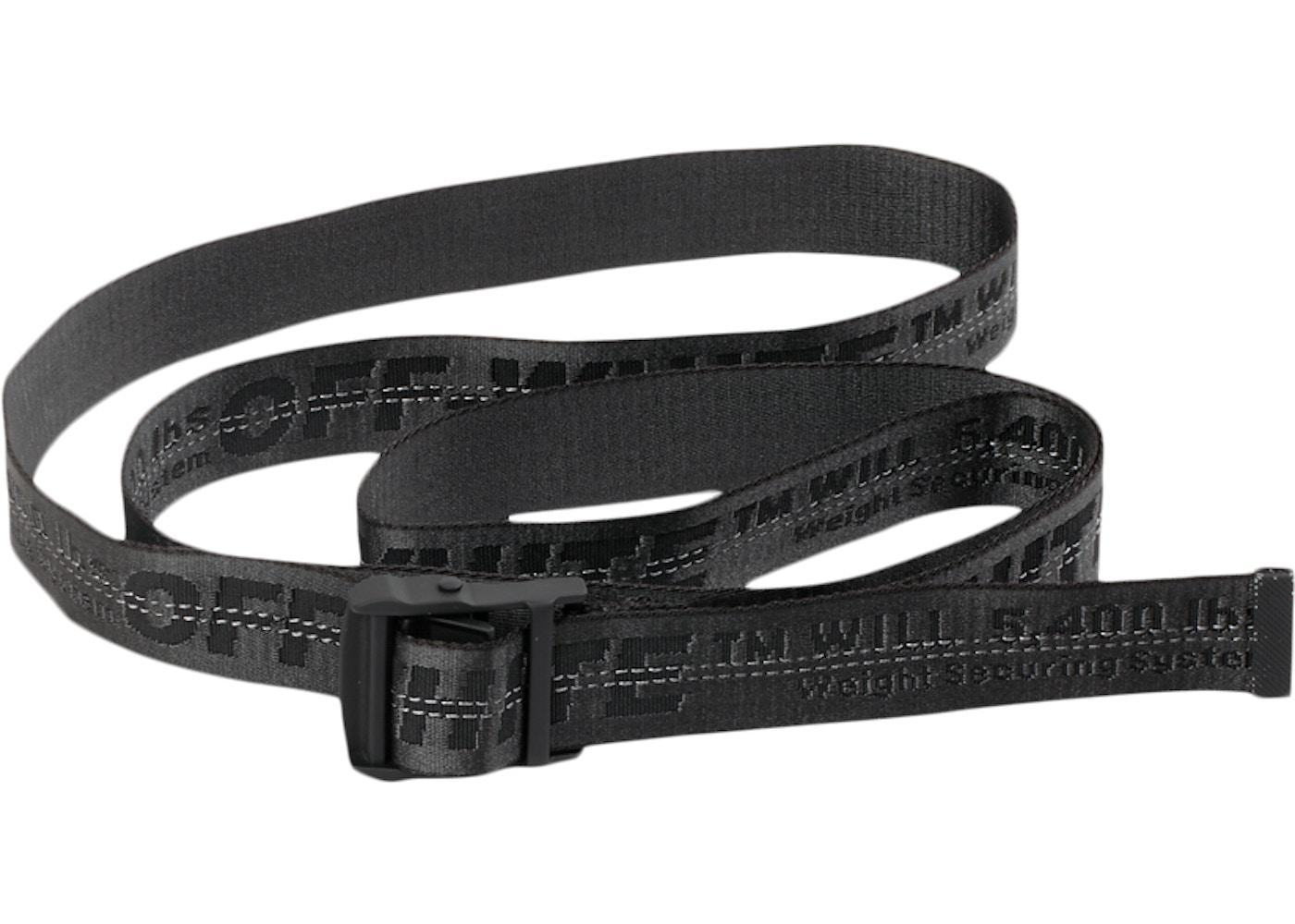 molto carino 2e84c 19872 OFF-WHITE Industrial Belt (SS19) Black