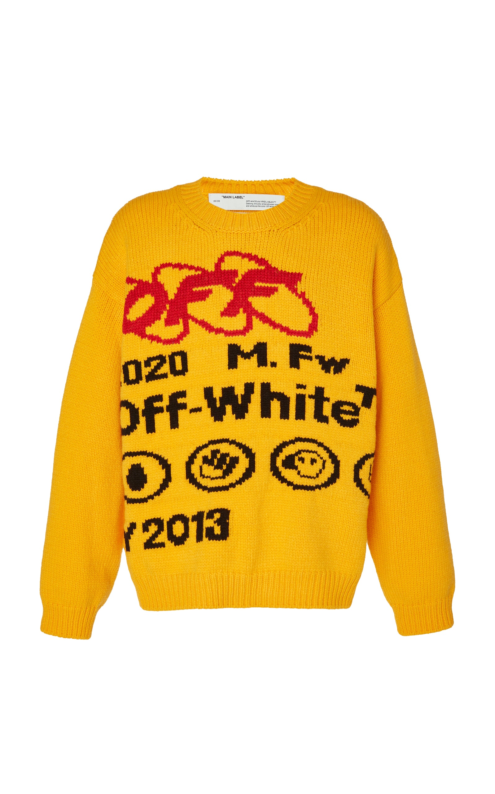 Off White Industrial Y013 Sweater Yellow/Black by Stock X