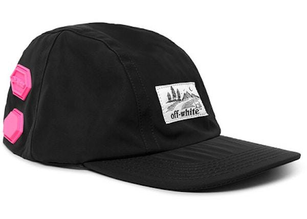 ea31c8de OFF-WHITE Logo Appliqued Shell Baseball Hat Black/Pink