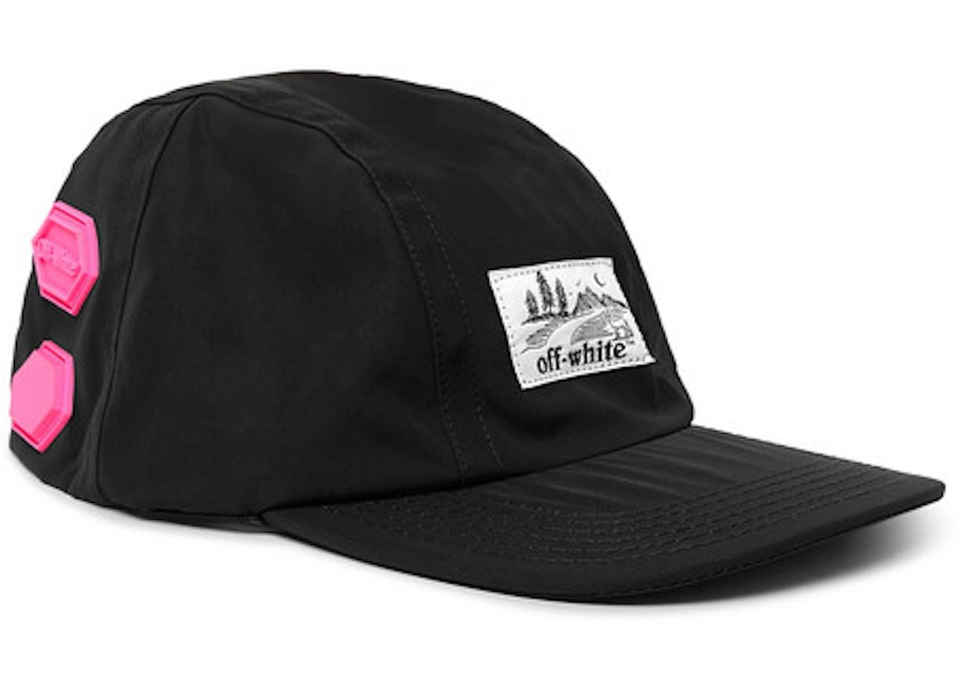 9c34f8f86 OFF-WHITE Logo Appliqued Shell Baseball Hat Black/Pink