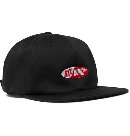 Off-White Hats LOGO EMBROIDERED BASEBALL HAT BLACK