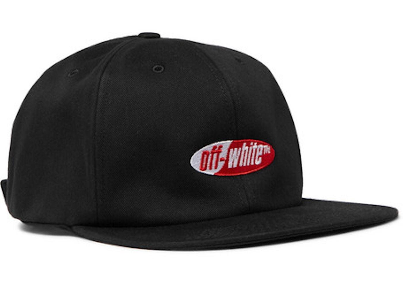 65895d8c OFF-WHITE Logo Embroidered Baseball Hat Black - SS19