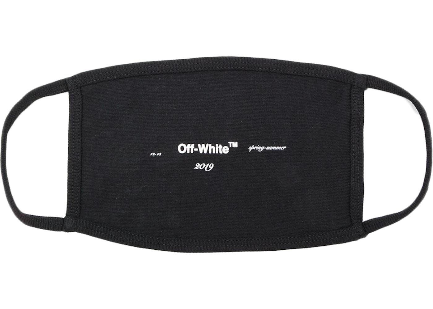 Off White Logo Face Mask Ss19 Black White Ss19