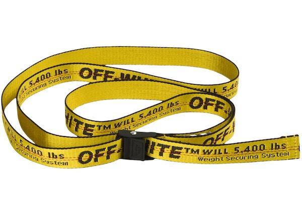 5ecf16c2 OFF-WHITE Mini Industrial Belt (SS19) Yellow/Black