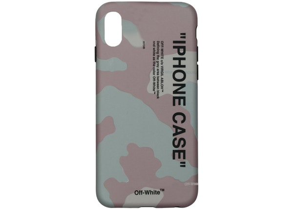 d43d6832 OFF-WHITE Quote iPhone X Case (SS19) Camo/Black