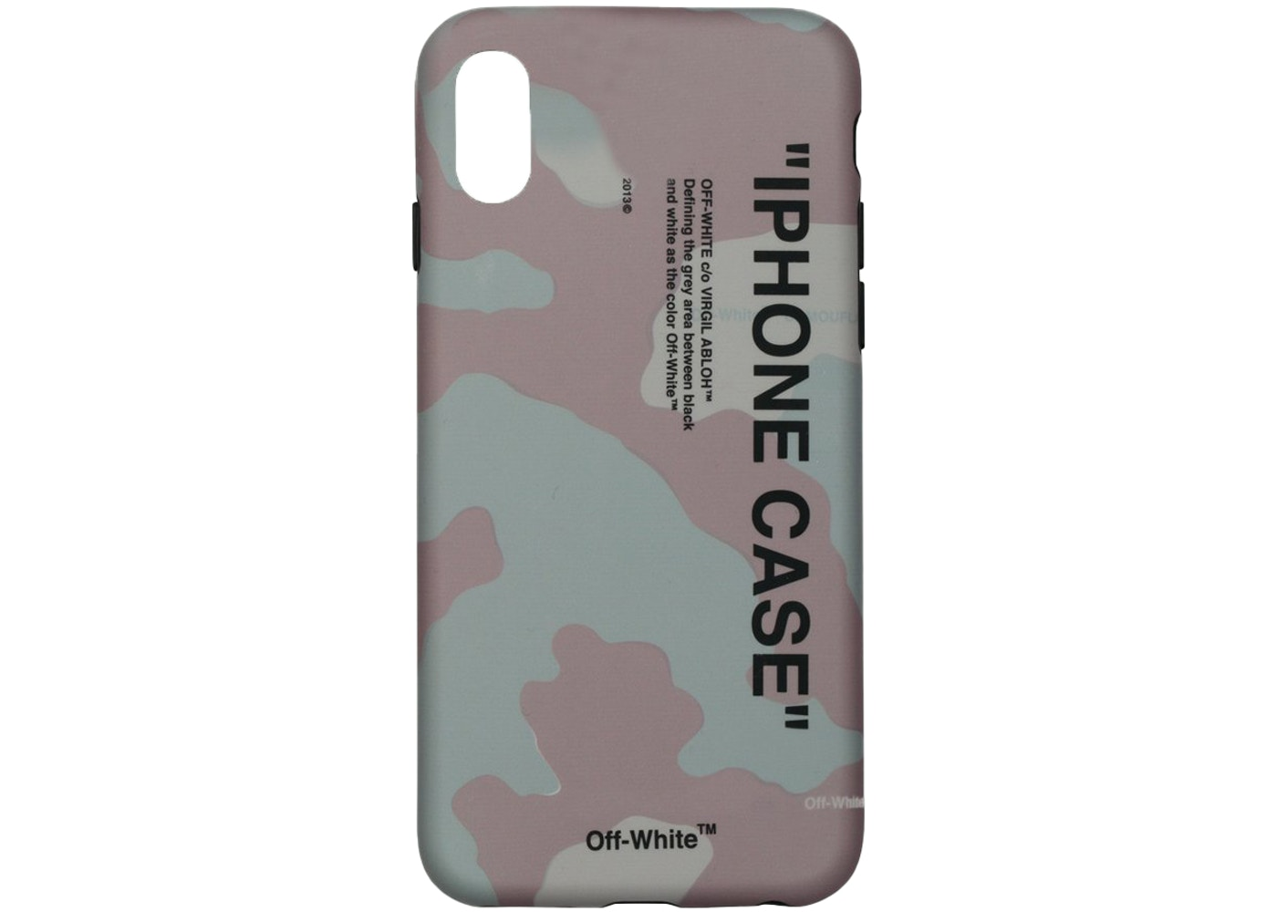 best sneakers 64077 a0c29 OFF-WHITE Quote iPhone X Case (SS19) Camo/Black