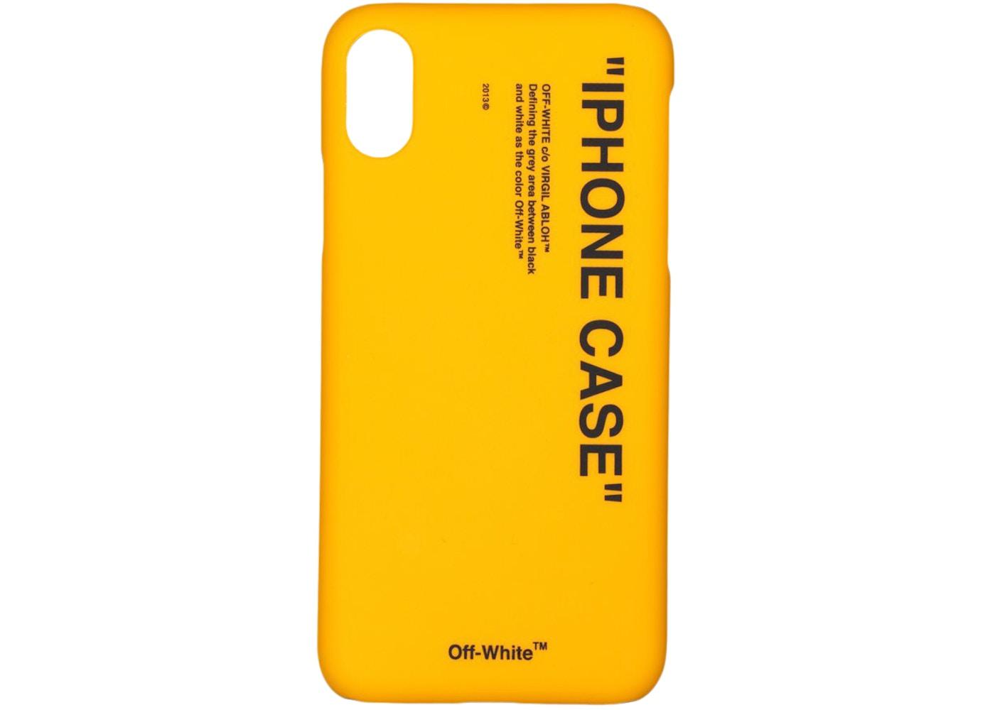 pretty nice 81ce2 0f7eb OFF-WHITE Quote iPhone XS Max Case Yellow/Black - FW19