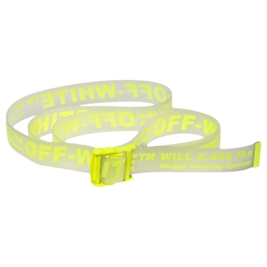 e27977f7 Off-White Rubber Industrial Belt (Ss19) Transparent Fluo Yellow ...