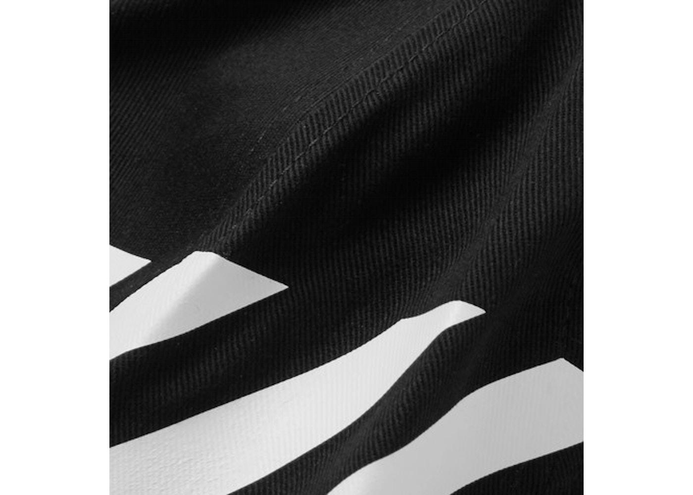 f5ed7812 OFF-WHITE Striped Diag Canvas Hat Black/White - SS19