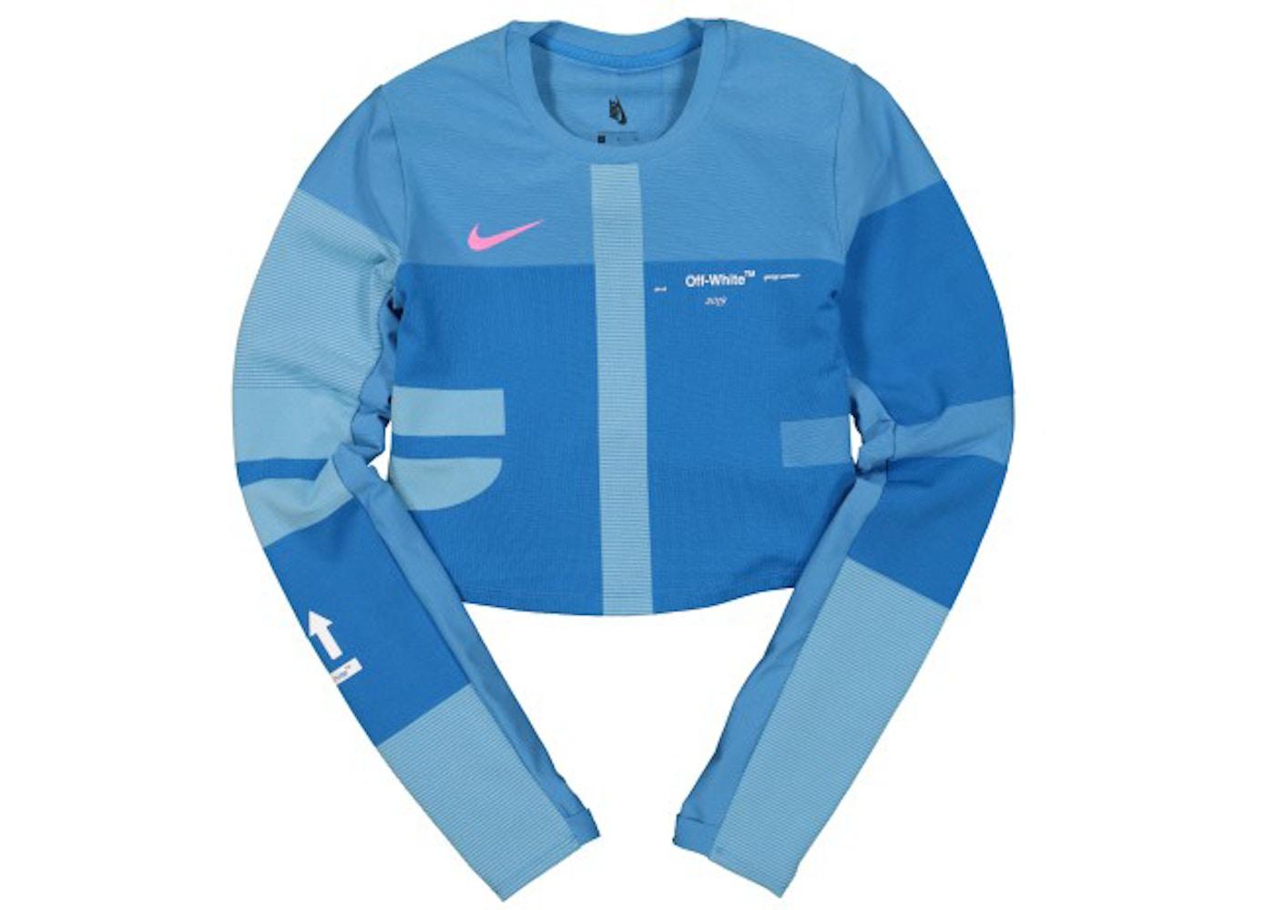 OFF-WHITE x Nike Women's Easy Run Top Photo Blue