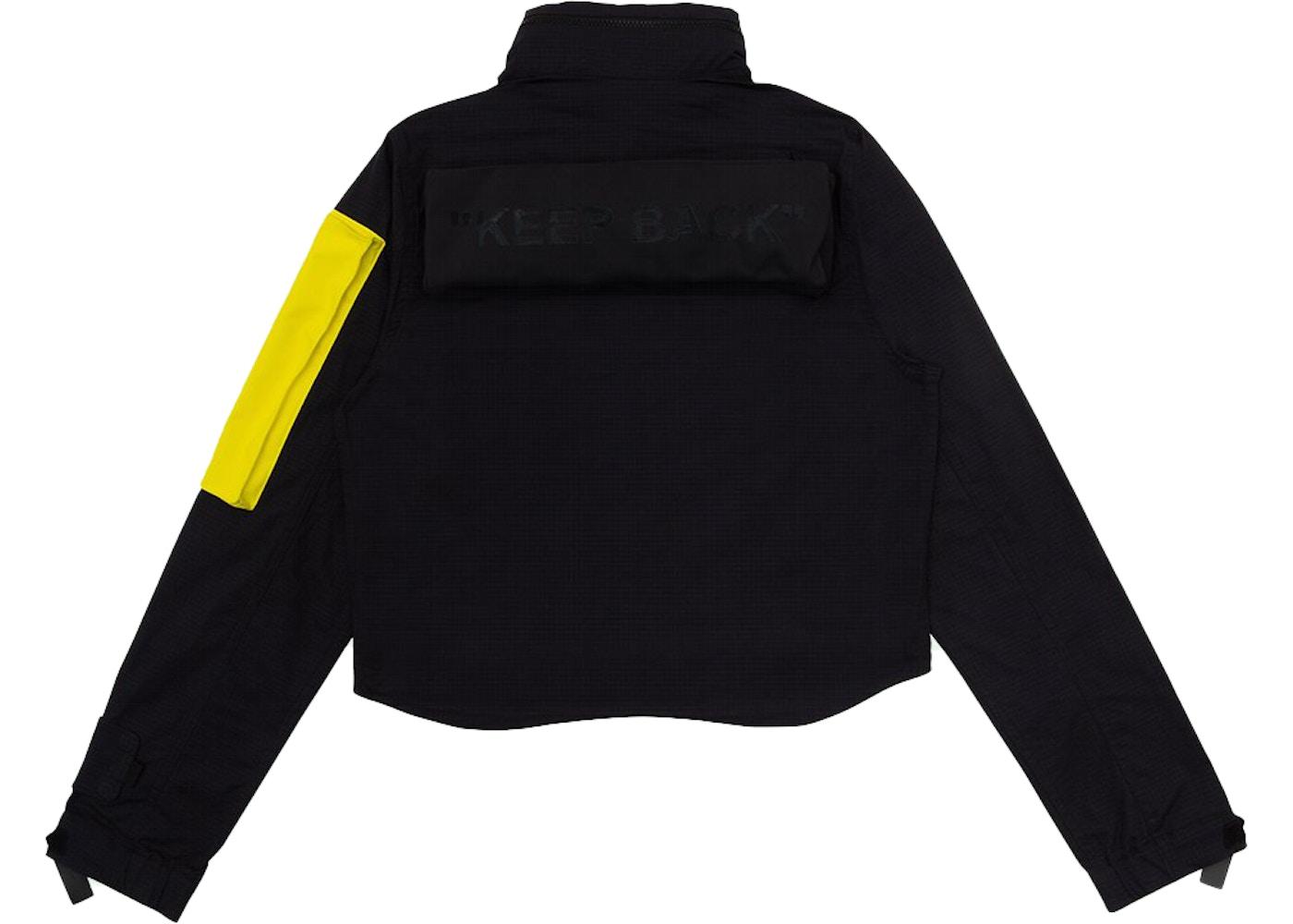 OFF-WHITE x Nike Women's Running Jacket Black/Yellow