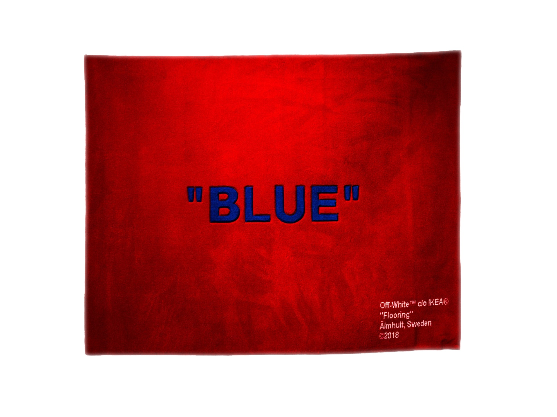Off-White Ikea Blue Rug Red/Blue