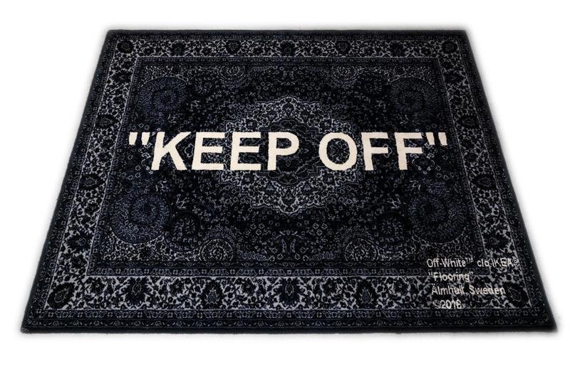 Off-White Ikea Keep Off Rug Black/White