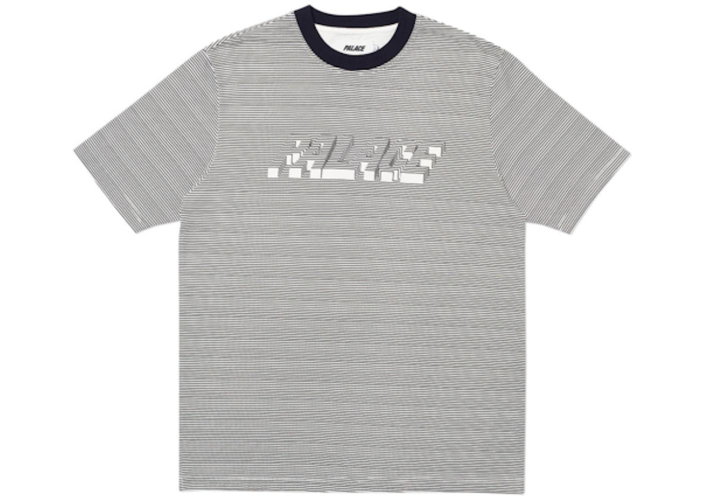 fc8911ed Palace 3D Stripe T-Shirt Black/White - SS19