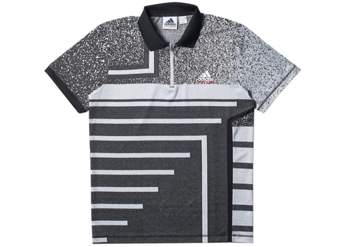 c8f41eee Palace adidas Off Court Jacquard Polo Black - SS18