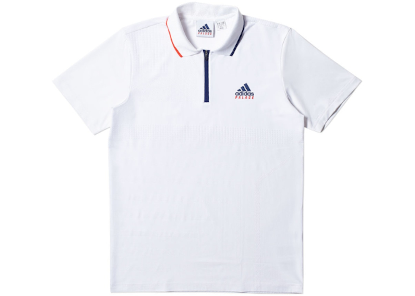 4fb2b50f Palace adidas On Court Jacquard Polo White - SS18