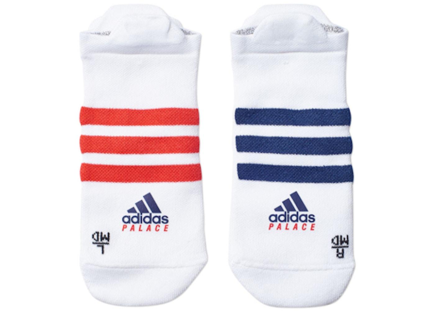 e96a5ec3 Palace adidas On Court No Show Socks White/Red/Dark Blue. adidas On Court  No Show