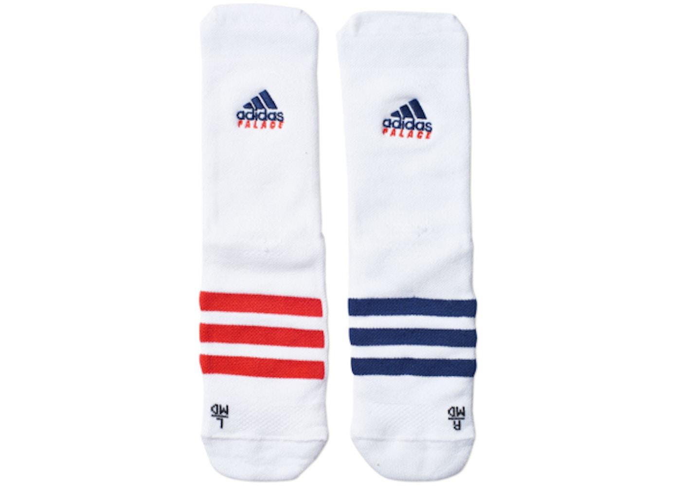 bb1167e8 Palace adidas On Court Socks White/Red/Dark Blue - SS18
