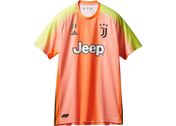 palace adidas palace juventus authentic buffon 77 match jersey orange slime fw19 usd