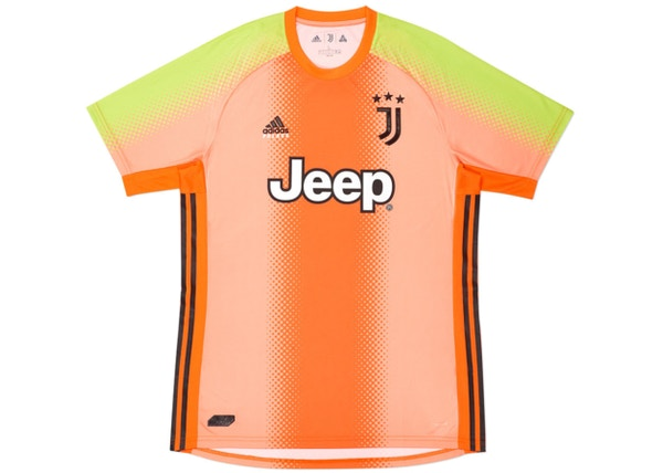 palace adidas palace juventus fourth goalkeeper jersey orange slime fw19 palace adidas palace juventus fourth goalkeeper jersey orange slime