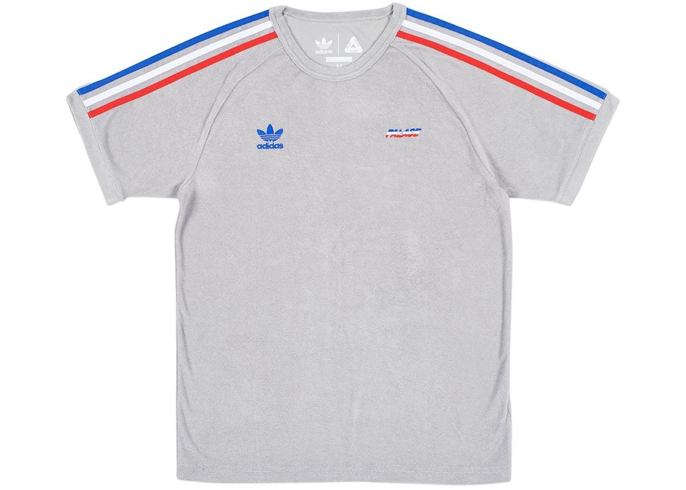 4070923c Palace adidas Terry T-Shirt Grey - SS18